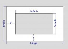 Rechteck mit<br>rechteckigem Ausschnitt